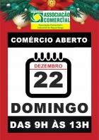 Comércio abre no domingo, em horário especial de Natal.