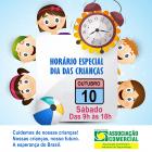 Dia das Crianças horário