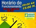 HORÁRIO DE FUNCIONAMENTO DO COMÉRCIO DIA 08/10/16