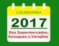 CALENDÁRIO DE FUNCIONAMENTO DOS SUPERMERCADOS
