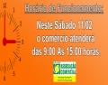HORÁRIO DE ATENDIMENTO DO COMÉRCIO DIA 11/2/17